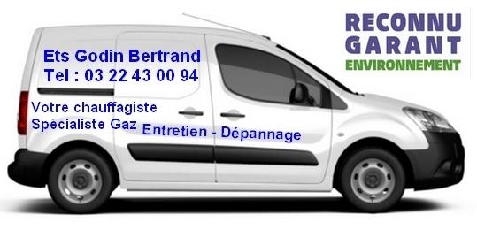Reconnaissez le véhicule de Bertrand Godin - Chauffagiste Gaz Moreuil
